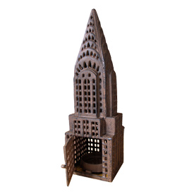 chryslr building candle lantern